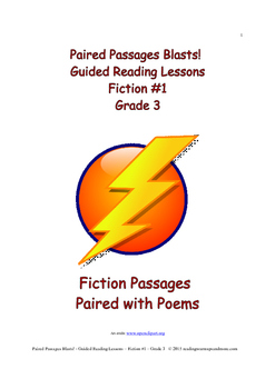 Paired Passages Blasts! Guided Reading Lessons - Fiction #1 - Grade 3