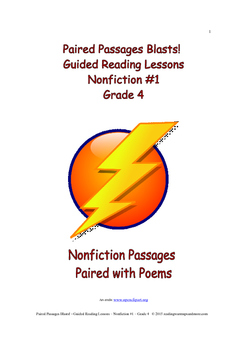 Paired Passages Blasts! Guided Reading Lessons - Nonfiction #1 - Grade 4