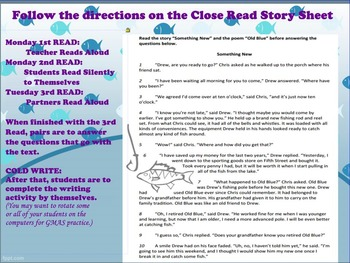 Paired Passages Close Reading Activity: Narrative and Poem
