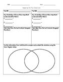 Paired Passages - Comparing Text Selections - Blank Graphic Organizer