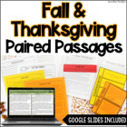 Paired Passages | Fall & Thanksgiving Paired Passages