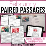Paired Passages February- Comprehension Google Classroom Distance Learning