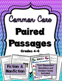 Paired Passages Fiction & Nonfiction - TDQ and RACES Strategy