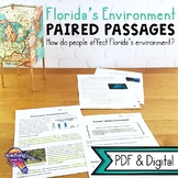 Florida's Environment Paired Passages, Reading Comprehension Questions & Writing