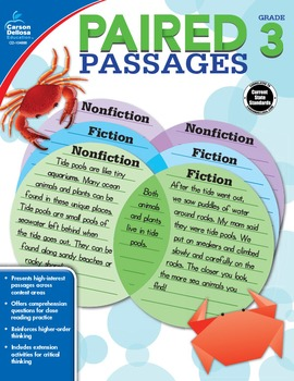 Paired Passages Grade 3 SALE 20% OFF 104888
