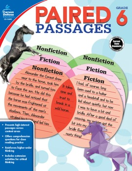 Paired Passages Grade 6 SALE 20% OFF 104891