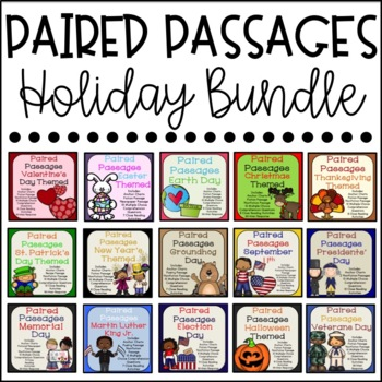 Paired Passages Holiday Bundle {Close Reading Activities I