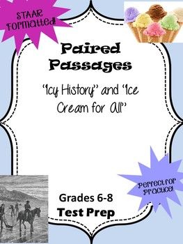 """Paired Passages """"Icy History"""" and """"Ice Cream for All"""""""