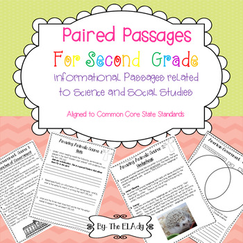 Paired Passages Informational Text- Science and Social Studies/ ELA Integration