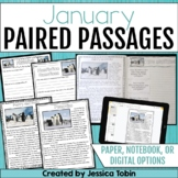 Paired Passages January- Comprehension Google Classroom Distance Learning