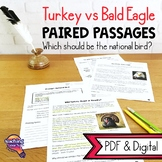 Turkey vs Bald Eagle: Paired Reading Comprehension Passages & Opinion Writing