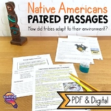 Native Americans: Paired Reading Comprehension Passages & Informative Writing