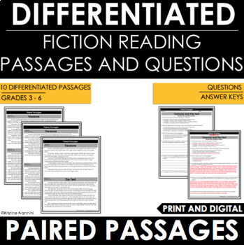Reading Comprehension Passages and Questions - Paired Passages - Paired Texts