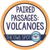 Paired Passages / Paired Texts: Volcanoes - Reading Comprehension and Writing