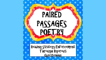 Reading Strategies Paired Passages: Poetry passage 3 If an