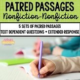 5 Sets of Paired Passages {Nonfiction-Nonfiction} Distance Learning