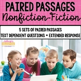 Paired Passages {Nonfiction-Fiction} Distance Learning