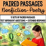 Paired Passages {Poetry-Nonfiction} Use With Distance Learning