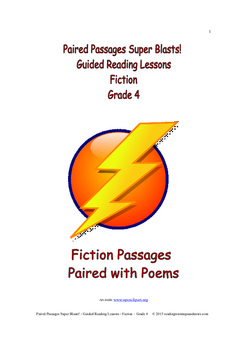 Paired Passages Super Blasts! Guided Reading Lessons - Fiction - Grade 4