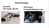 """Paired Passages:  """"Their Bullet, My Life"""" and """"Concealed Weapons Laws"""""""
