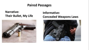 "Paired Passages:  ""Their Bullet, My Life"" and ""Concealed W"