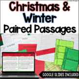 Winter & Christmas Paired Passages - w/ Digital Paired Pas