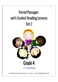 Paired Passages With Guided Reading Lessons - Set 2 - Grade 4