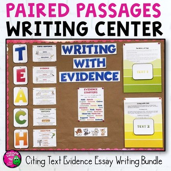 Paired Passages Writing Center: Citing Text Evidence Bundle Grades 4, 5, & 6 FSA