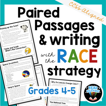 Paired Passages and Writing with the RACE Strategy: Grades 4-5 Distance Learning