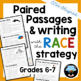 Paired Passages and RACE Strategy Writing Prompts : Grades 6-7