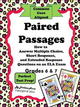 Paired Passages for Grades ... by Darlene Anne | Teachers Pay Teachers