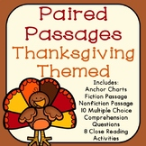 Thanksgiving Reading Comprehension Paired Passages