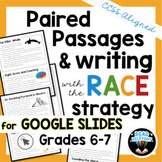 Paired Passages & the RACE Strategy Writing Prompts, Digital for 6-7th Grades