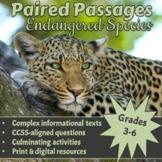 Paired Passages: Endangered Species: Grades 3-5 [Print & Digital]