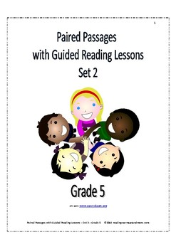 Paired Passages with Guided Reading Lessons - Set 2 - Grade 5