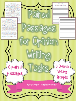 Paired Passages with Opinion Writing Tasks