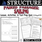 Paired Passages with Questions Reading Comprehension Struc