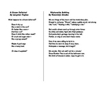 Paired Poetry For Texas ELA STAAR EOC Crossover Short Answer