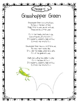 Paired Poetry/Informational Text @ Grasshoppers Activities