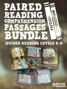 Paired Reading Comprehension Passages Bundle: Guided Reading Levels K-O