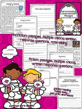 Paired Reading Comprehension Passages: Guided Reading Level M
