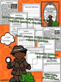 Paired Reading Comprehension Passages: Guided Reading Level N