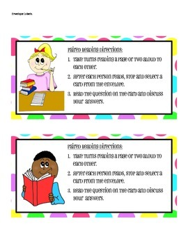 Paired Reading Task Cards