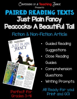 Paired Reading Texts – Just Plain Fancy and Peacocks