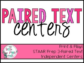 Paired Selections Literacy Center {STAAR/TEKS Aligned}