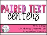 Paired Selections Literacy Center {STAAR/TEKS Aligned}