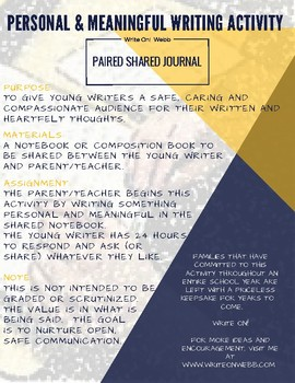 Paired Shared Writing Activity