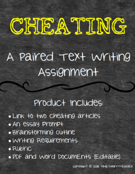 Paired Text- Cheating Writing Activity