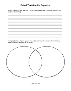 Paired Text Graphic Organizers