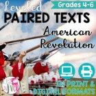 Paired Texts: American Revolution Grades 4-8 (Constructed Response)